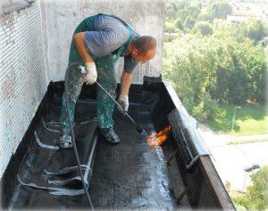 Гидроизоляция балкона наплавляемым материалом