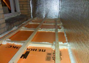 Технология утепления пола балкона пеноплексом