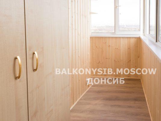 Отделка балкона лодочка