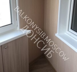 Отделка балкона МДФ